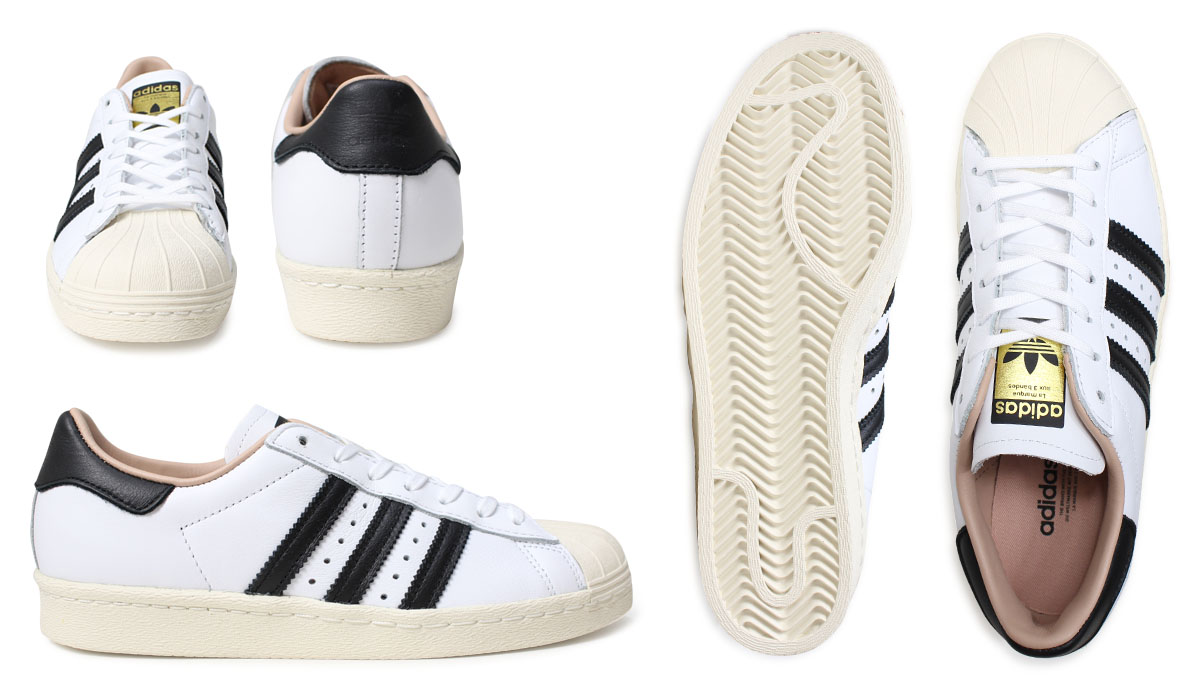 Lady's 80s By2957 W Adidas White By2958 Superstar Black Sneakers Originals Shoes Fl3uKJ1Tc