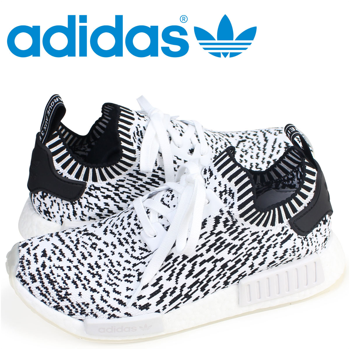 reputable site 6d55a 3806d adidas NMD R1 PK Adidas Originals sneakers N M D nomad men BZ0219 ZEBRA  PACK shoes white white