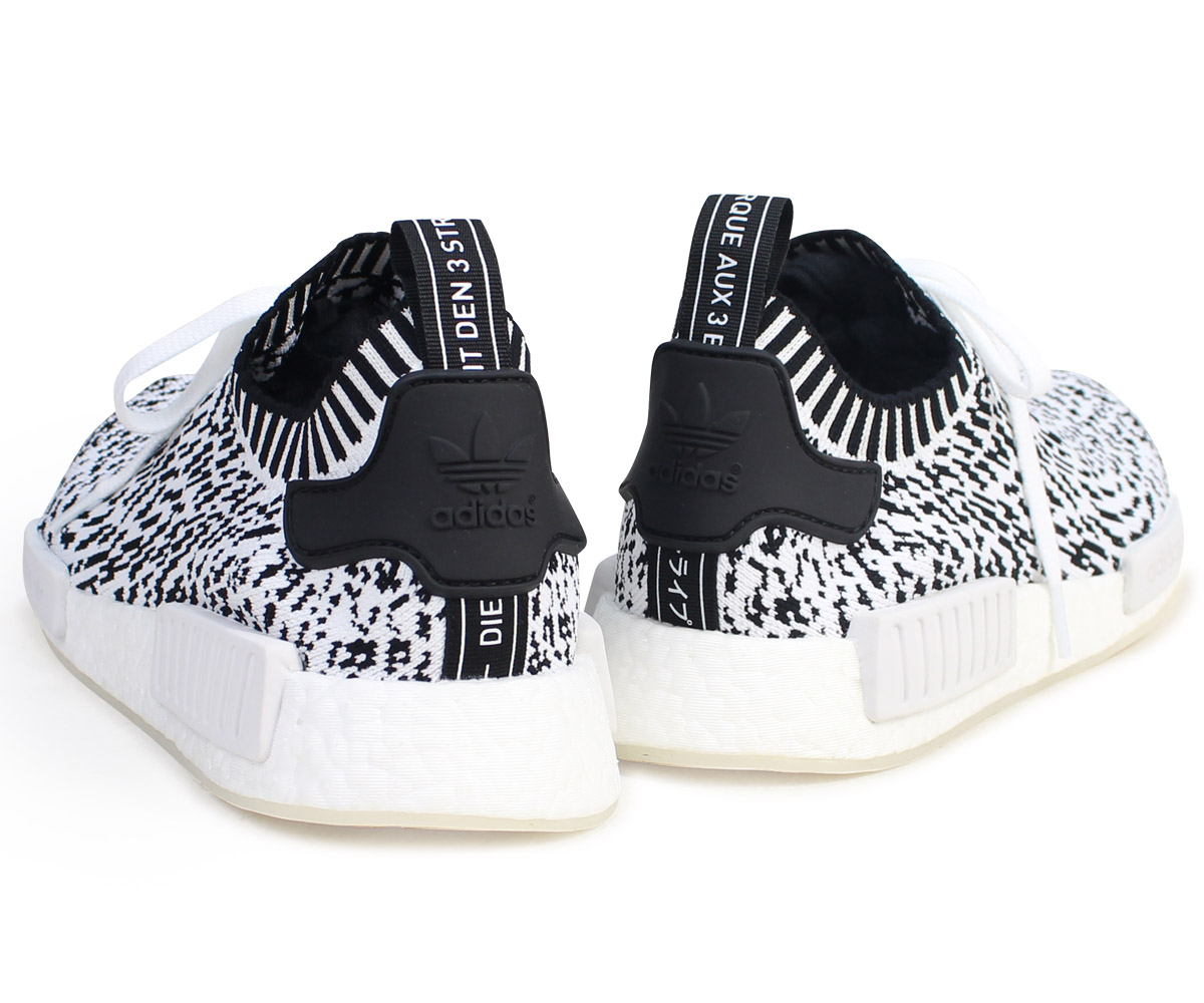 adidas NMD R1 PK Adidas Originals sneakers N M D nomad men BZ0219 ZEBRA PACK shoes white white