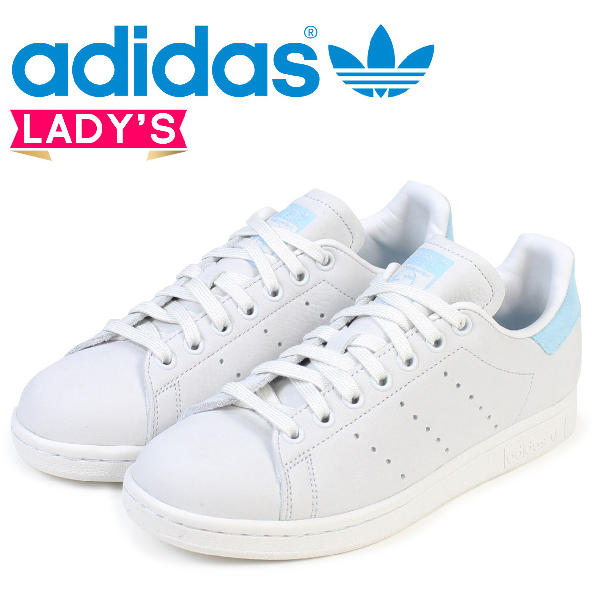 adidas Originals Stan Smith Lady's Adidas sneakers STAN SMITH W BZ0390 shoes  white [load planned Shinnyu load in reservation product 10/6 containing]