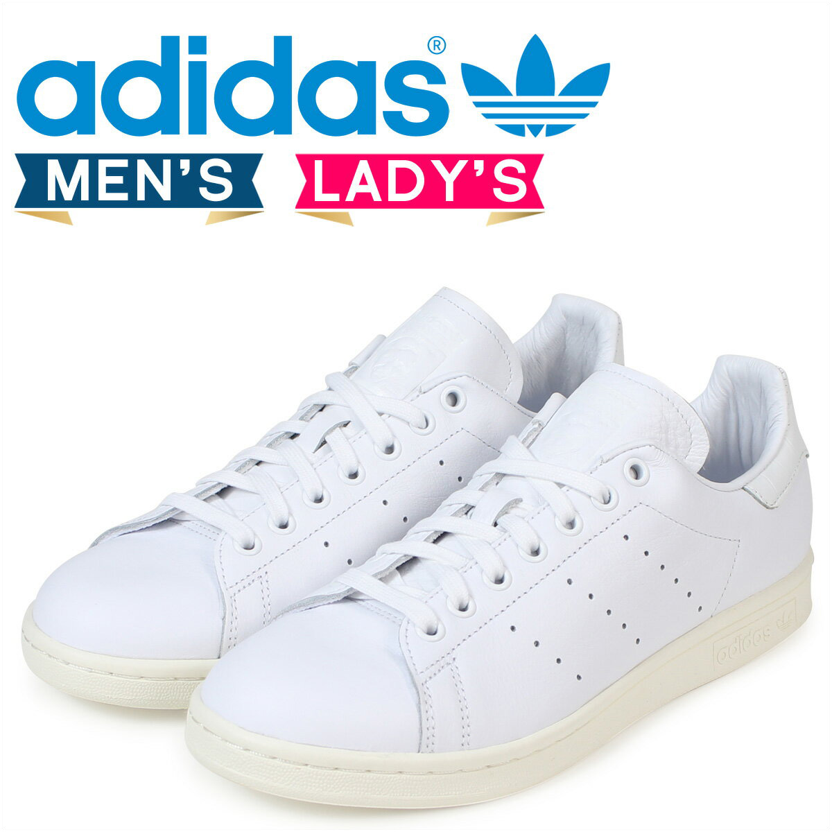 quality design 1612c 28043 adidas originals originals Stan Smith Adidas STAN SMITH Lady's men sneakers  BZ0466 shoes white white
