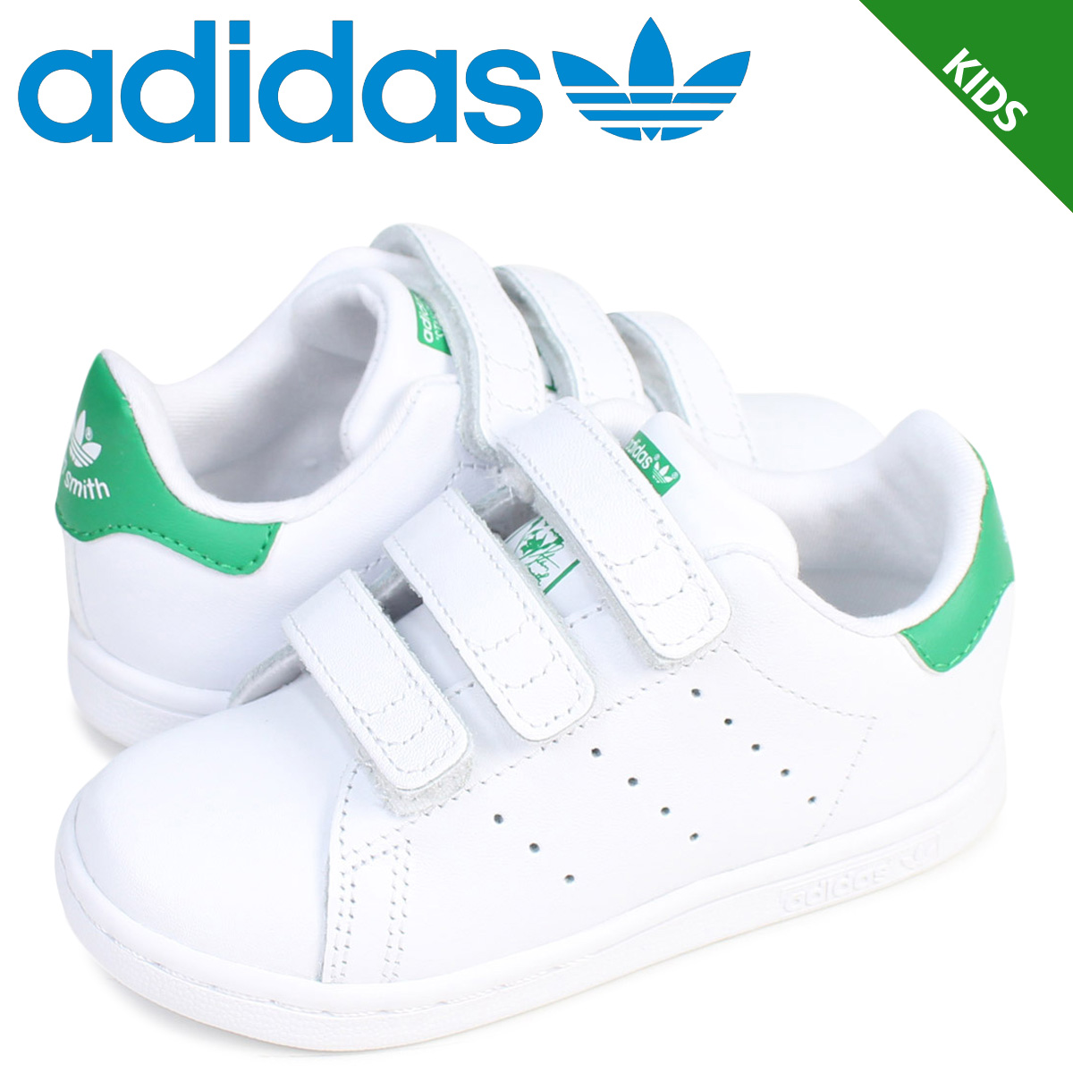 202b2fe6a49c7 Adidas Stan Smith Velcro kids baby adidas originals sneakers STAN SMITH CF  I BZ0520 shoes white ...