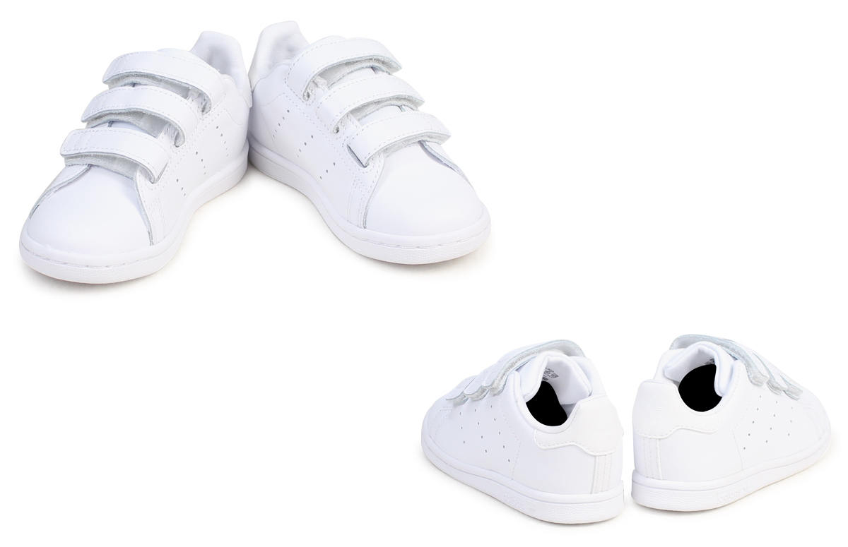 adidas Stan Smith Velcro kids baby Adidas Originals sneakers STAN SMITH CF I BZ0521 shoes white white
