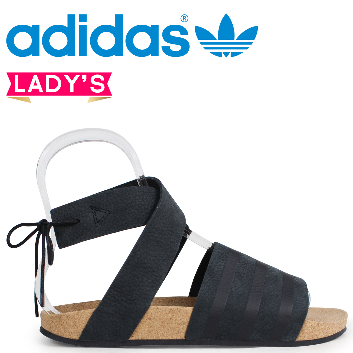 2d235024ba0 adidas Originals ad lied Adidas Lady s sandals ADILETTE ANKLE WRAP W CM8167  black originals  load planned Shinnyu load in reservation product 4 10 ...