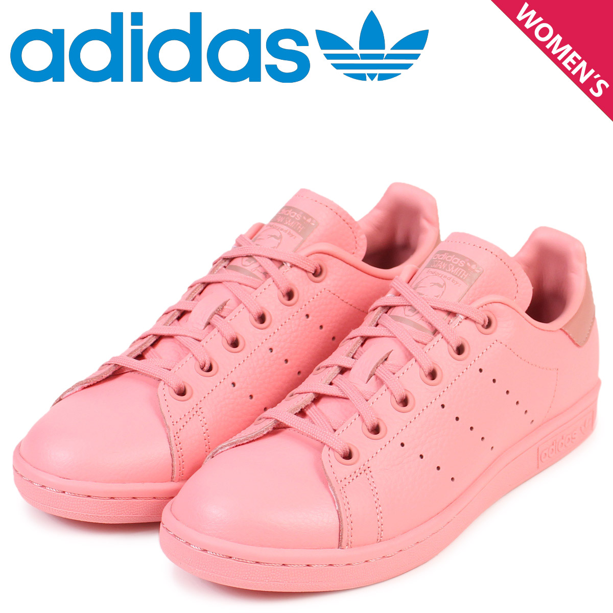 innovative design c7855 d218a adidas Originals Stan Smith Lady's Adidas sneakers STAN SMITH CP9809 shoes  pink