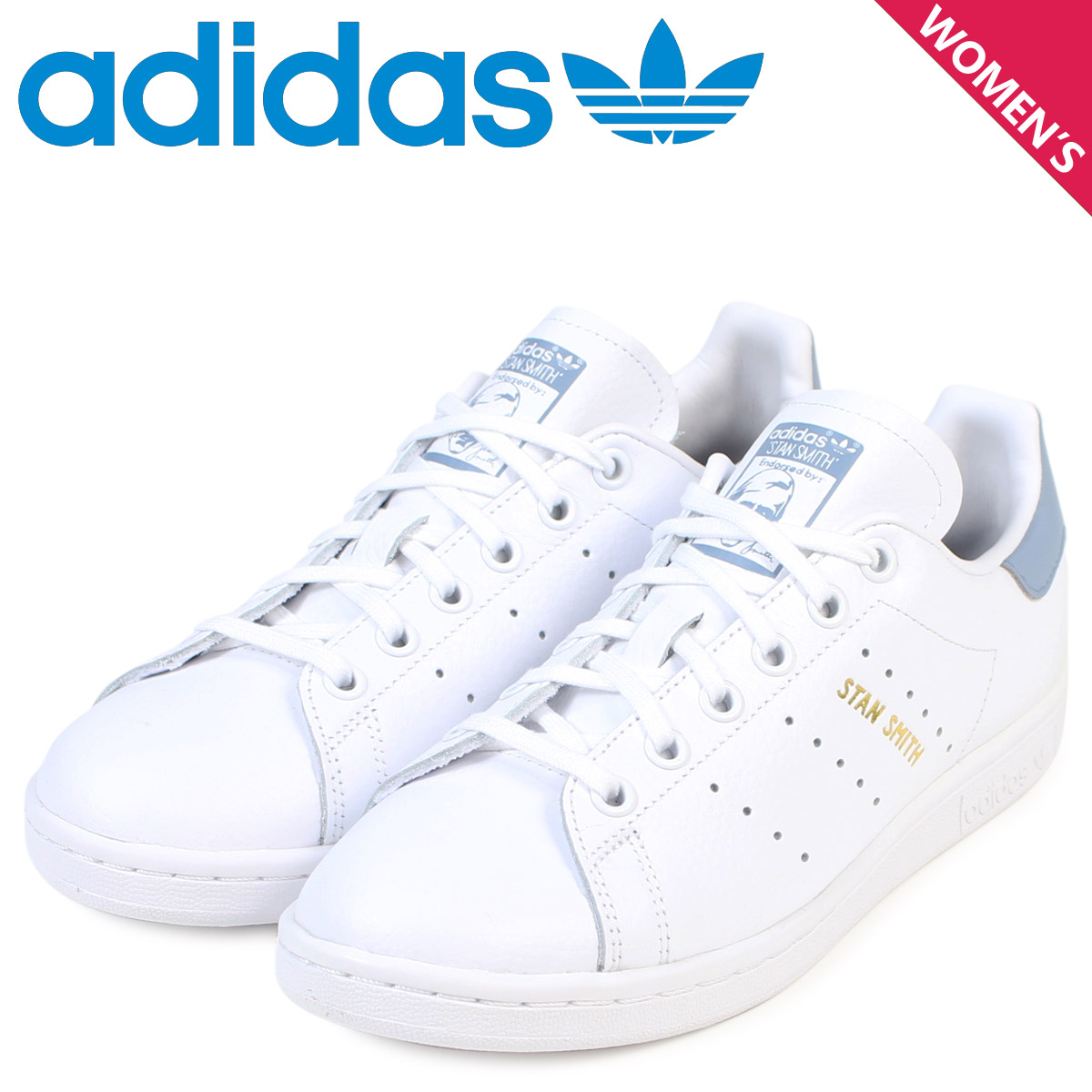 adidas originals Lady's Adidas Stan Smith sneakers STAN SMITH CP9810 shoes white [load planned Shinnyu load in reservation product 9/28 containing]