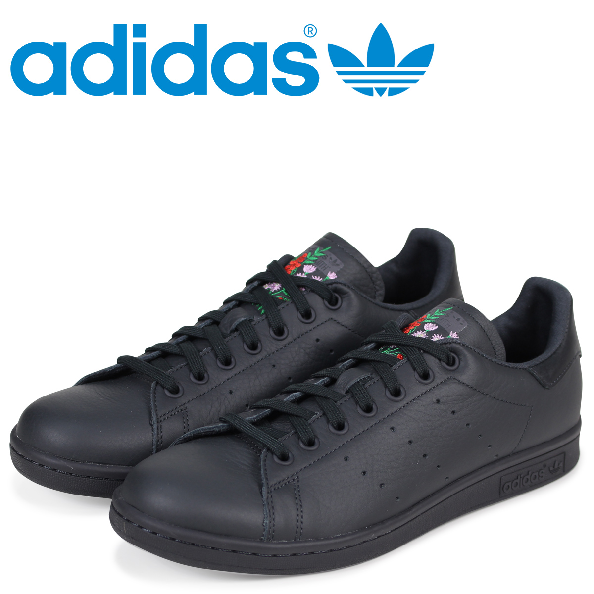 adidas Originals Adidas Stan Smith sneakers STAN SMITH men CQ2197 black originals [2/22 Shinnyu load]