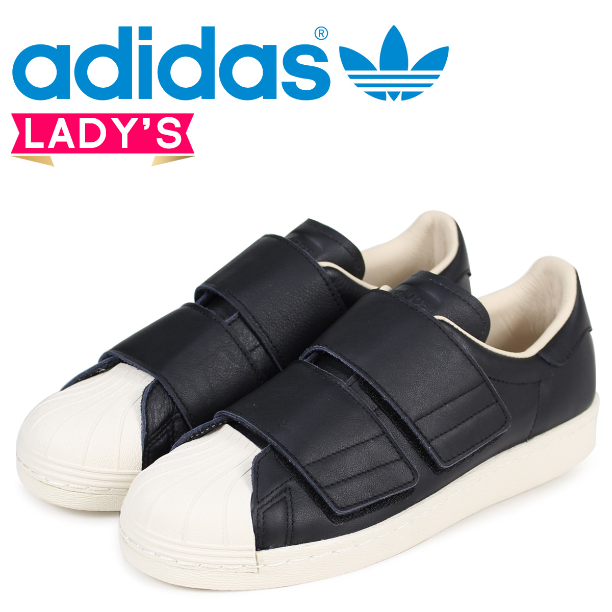 available wholesale price the sale of shoes adidas Originals superstar 80s Adidas Lady's sneakers Velcro SUPER STAR  VELCRO W CQ2448 black black originals