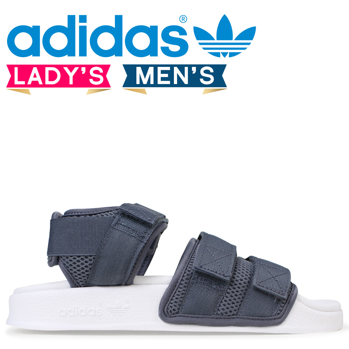 4b577be6f31b adidas Originals アディレッタアディダスサンダル ADILETTE SANDAL 2.0W lady s men s CQ2672  gray originals  load planned Shinnyu load in reservation product ...