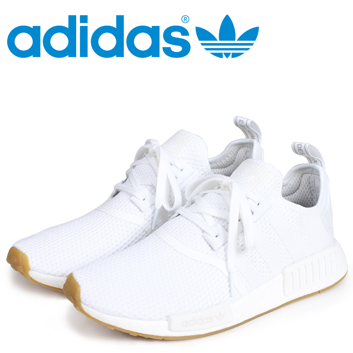 100% authentic online shop another chance adidas Originals NMD R1 Adidas originals sneakers N M D nomad men D96635  white white