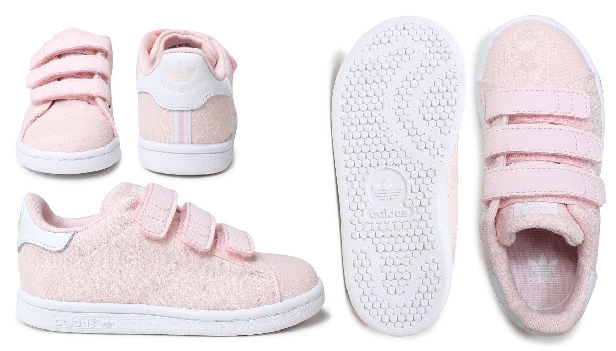 1d507c56 adidas Adidas Stan Smith Velcro sneakers baby kids STAN SMITH CF I S32178  S32179 shoes navy pink