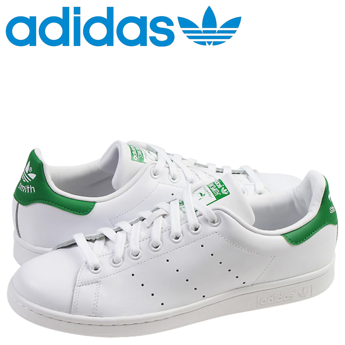 bce075f4a08  SOLD OUT  adidas originals adidas Originals STAN SMITH sneakers Stan Smith  leather men s women s M20324 white green unisex  regular