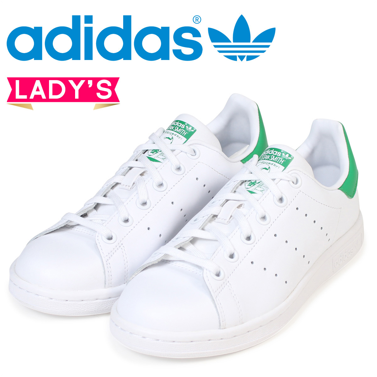 official store later footwear adidas Stan Smith Lady's sneakers Adidas Originals STAN SMITH J M20605  shoes white white originals