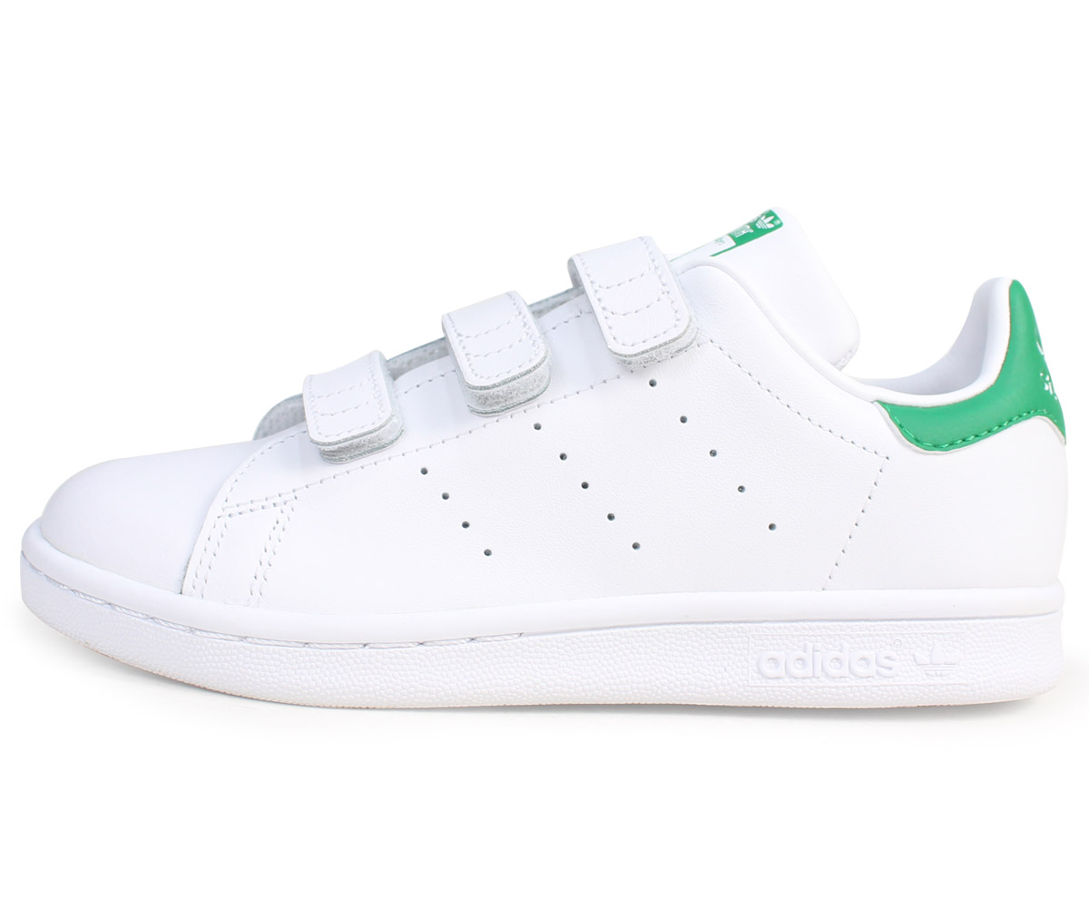 official photos 7c2cd 78c0e Adidas Stan Smith Velcro kids adidas originals sneakers STAN SMITH CF C  M20607 shoes white  8 7 Shinnyu load