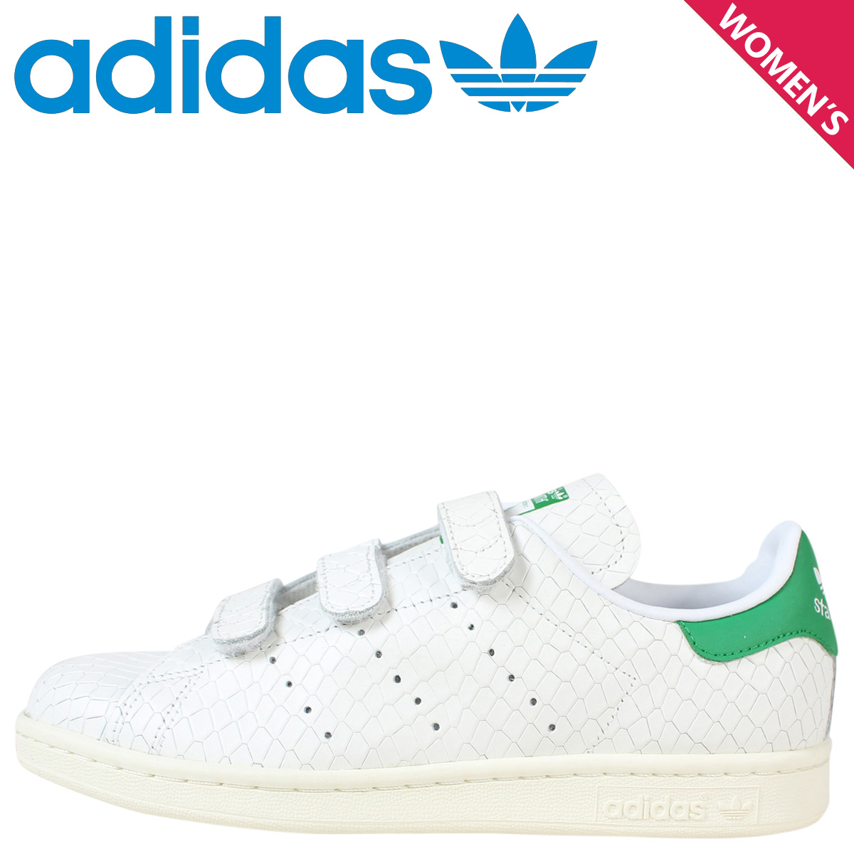 coupon code discount shop fashion style adidas Originals Adidas originals Stan Smith Velcro sneakers Lady's STAN  SMITH CF W S32171 shoes white white