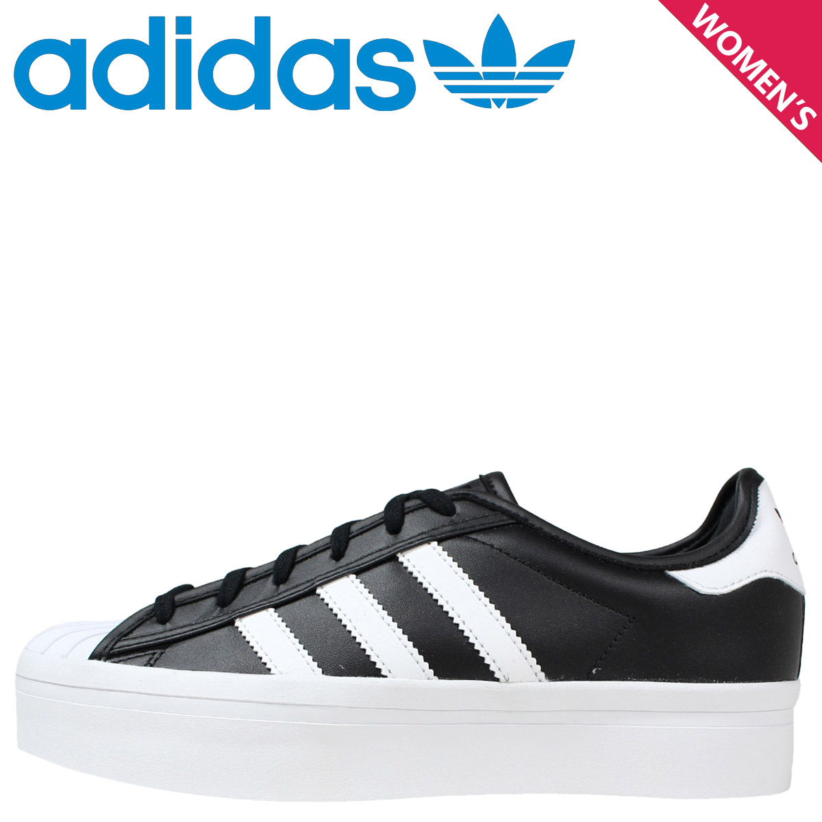 many fashionable official images details for adidas Originals Adidas originals superstar sneakers Lady's SUPERSTAR RIZE  W S75069 shoes black black