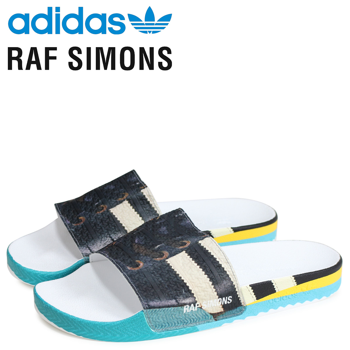 adidas Originals アディダス オリジナルス ラフシモンズ RAF SIMONS サンバ アディレッタ サンダル シャワーサンダル メンズ RS SAMBA ADILETTE コラボ ブラック 黒 EE7959