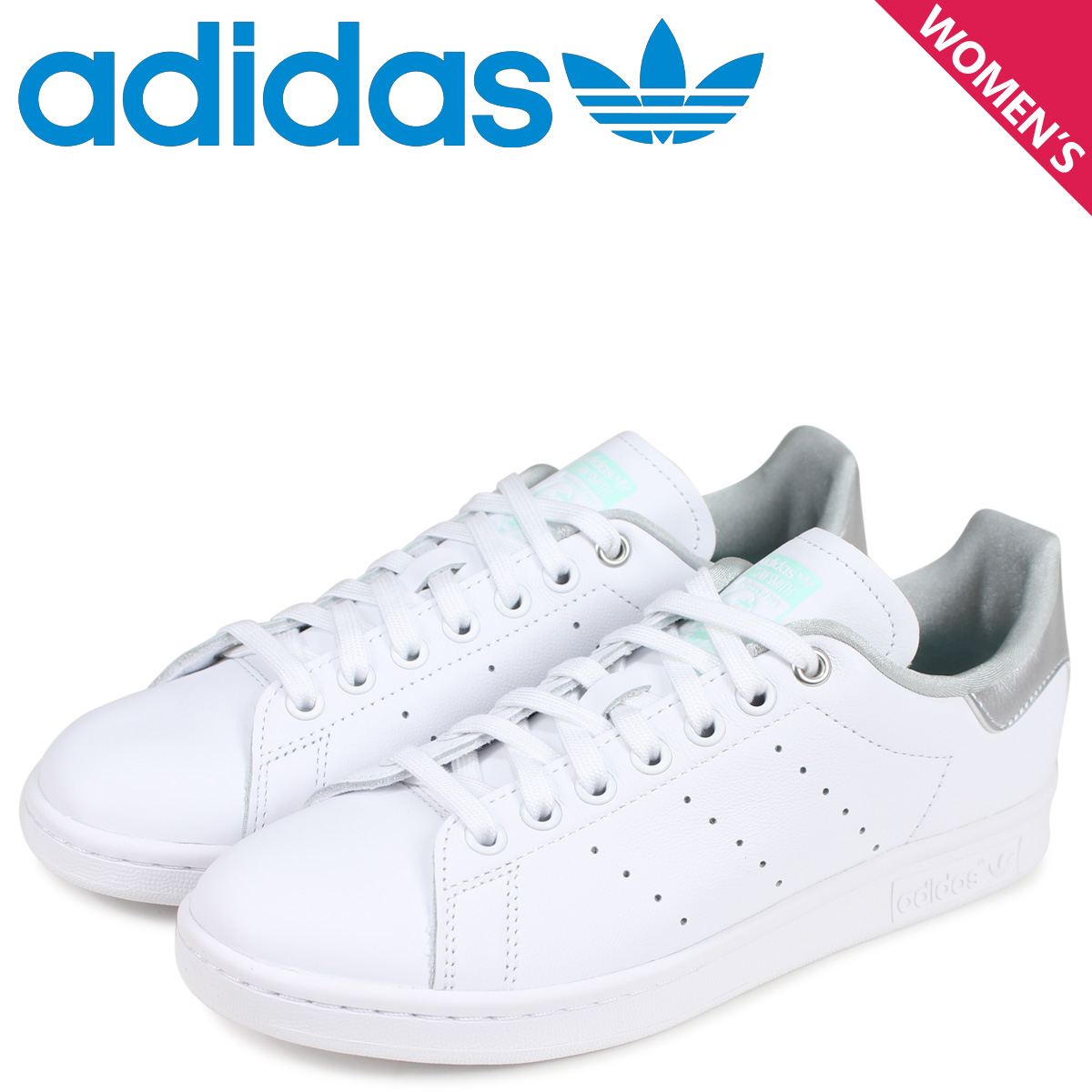 89bb15c07236f adidas Originals Adidas originals Stan Smith sneakers Lady s STAN SMITH W  white white G27907  load planned Shinnyu load in reservation product 4 19  ...
