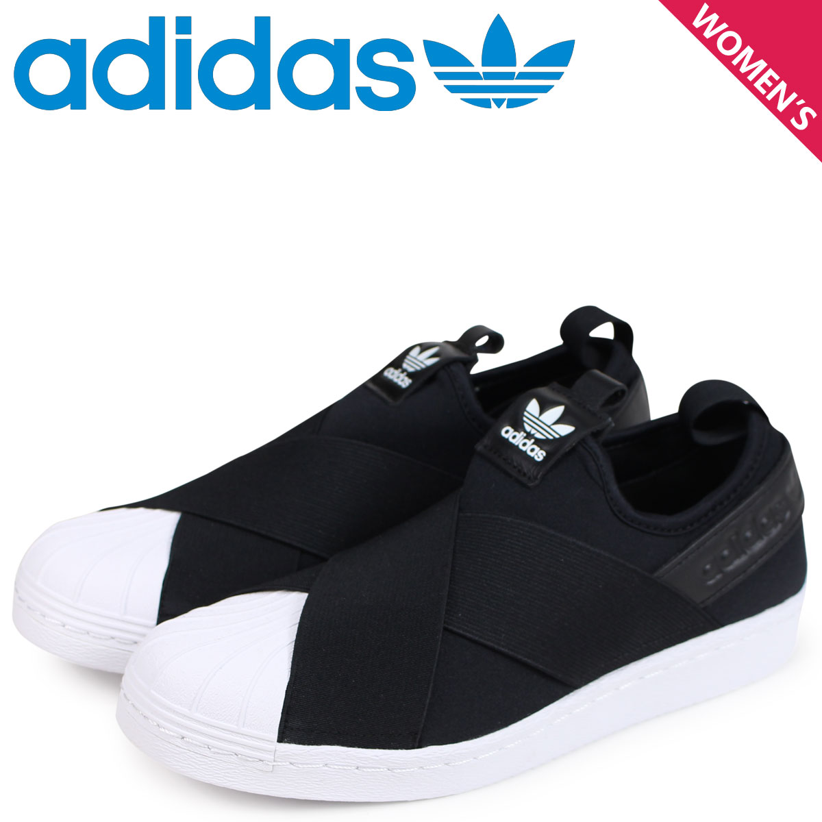 adidas Originals Adidas originals superstar sneakers slip-ons Lady s  SUPERSTAR SLIP-ON W black S81337  load planned Shinnyu load in reservation  product 1 25 ... b09db5afb