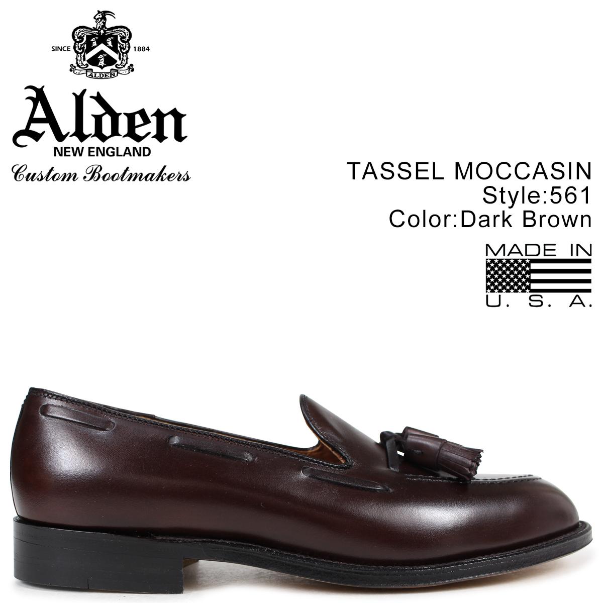 オールデン ALDEN ローファー タッセル シューズ メンズ TASSEL MOCCASIN ダークブラウン Dワイズ 561