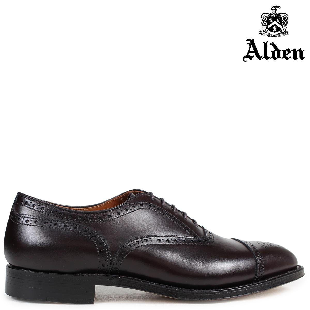 オールデン ALDEN オックスフォード シューズ メンズ MEDALLION TIP BAL OXFORD Dワイズ 908