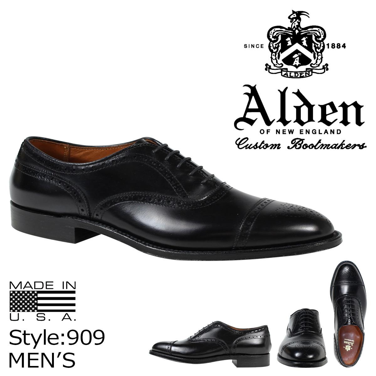 オールデン ALDEN オックスフォード シューズ MEDALLION TIP BAL OXFORD Dワイズ 909 メンズ