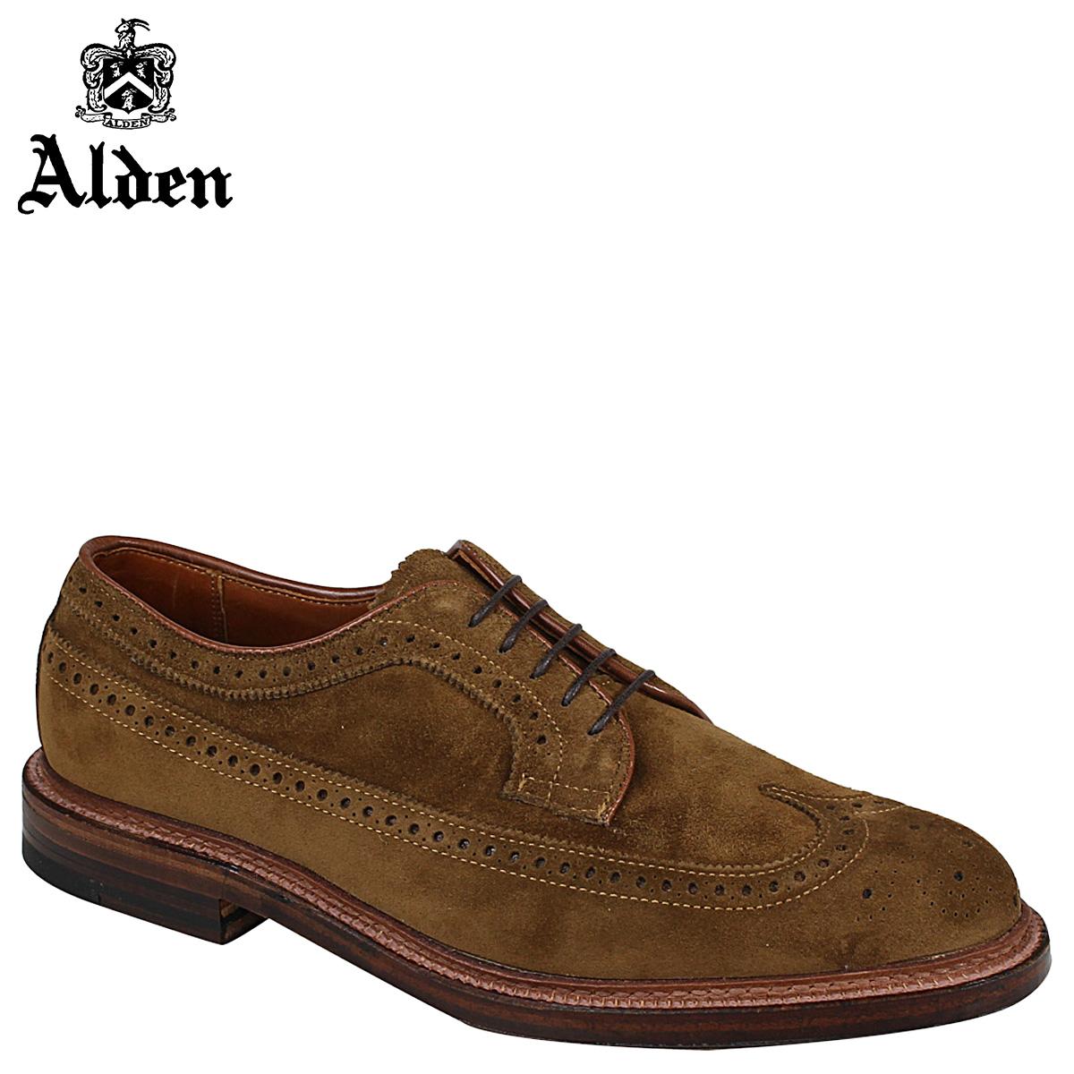 オールデン ALDEN ウイングチップ シューズ LONG WING BLUCHER Dワイズ 9794 メンズ
