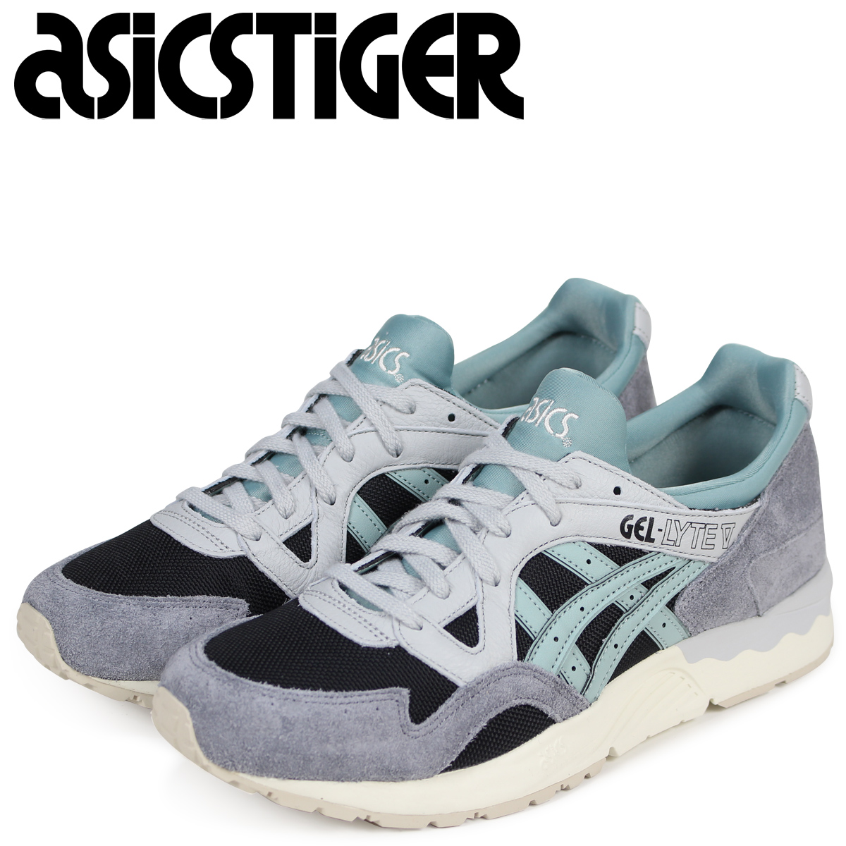brand new 36b58 384ed asics Tiger gel light 5 ASICS tiger sneakers GEL-LYTE V H805L-9046 men blue