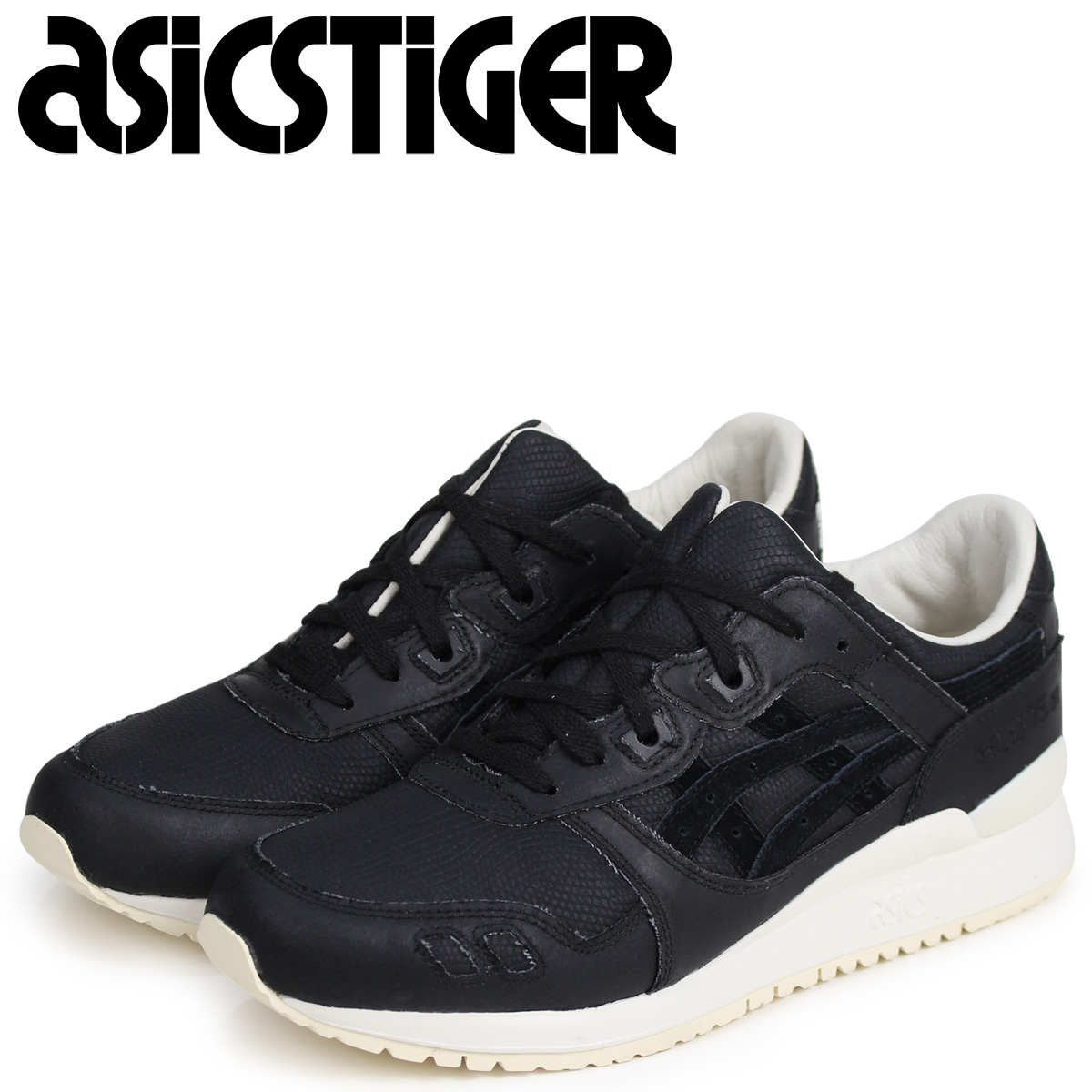 moins cher 254ea c49a4 asics Tiger ASICS tiger gel light 3 sneakers GEL-LYTE III H842N-9090 men  black black