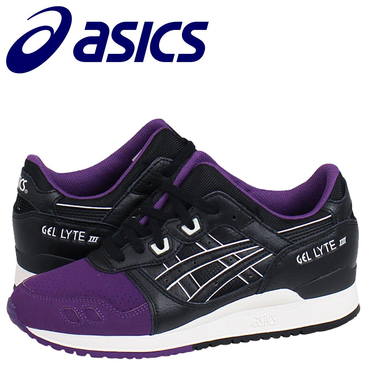 low priced 9b447 ac2f2 asics ASICS gel light 3 sneakers GEL-LYTE 3 TQ5V0L-3390 men gap Dis shoes  purple black black