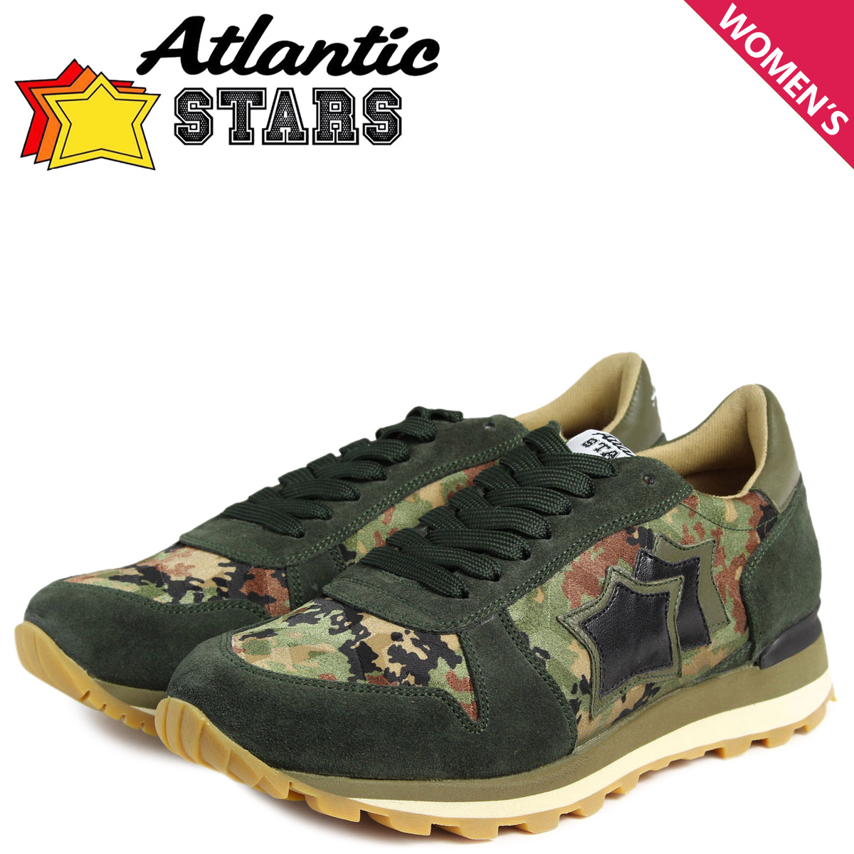 Atlantic STARS レディース スニーカー アトランティックスターズ ジェンマ GEMMA AMI-PR-MPSN 靴 グリーン