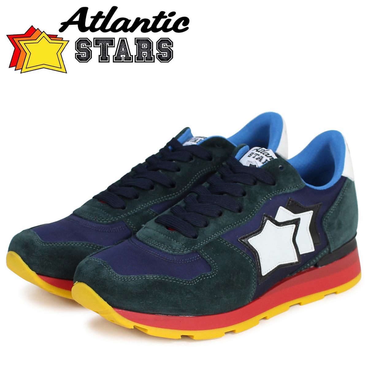 Atlantic STARS メンズ スニーカー アトランティックスターズ アンタレス ANTARES LNR 靴 グリーン ネイビー