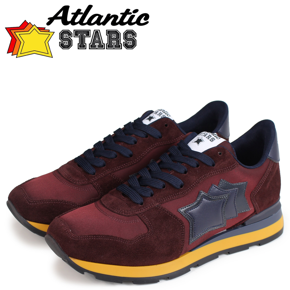 Atlantic STARS メンズ スニーカー アトランティックスターズ アンタレス ANTARES BCN-02NY ブラウン