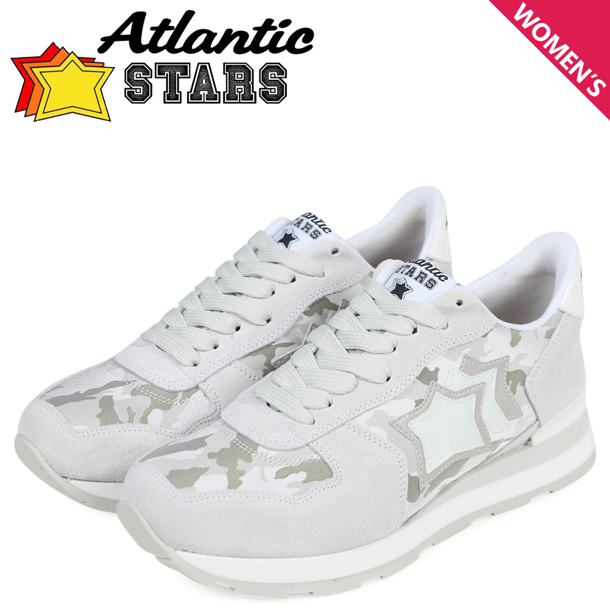 Atlantic STARS アトランティックスターズ レディース スニーカー ベガ VEGA BMB-86B ホワイト 白