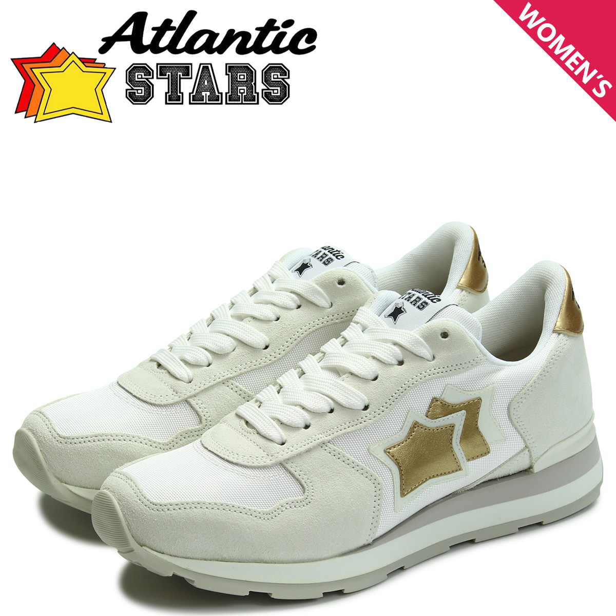 Atlantic STARS レディース スニーカー アトランティックスターズ ベガ VEGA BO-86B ホワイト