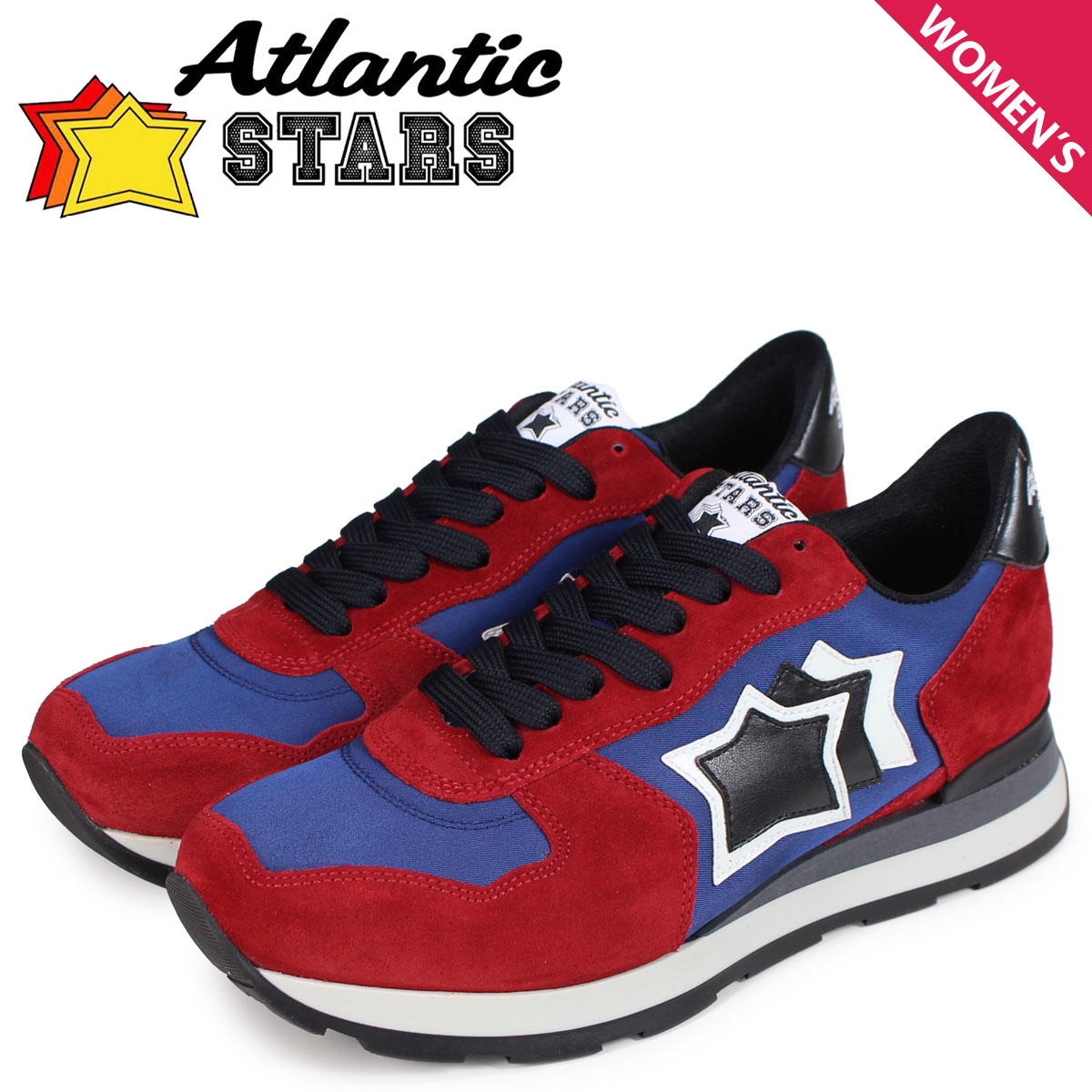 Atlantic STARS レディース スニーカー アトランティックスターズ ベガ VEGA BRN-81N レッド