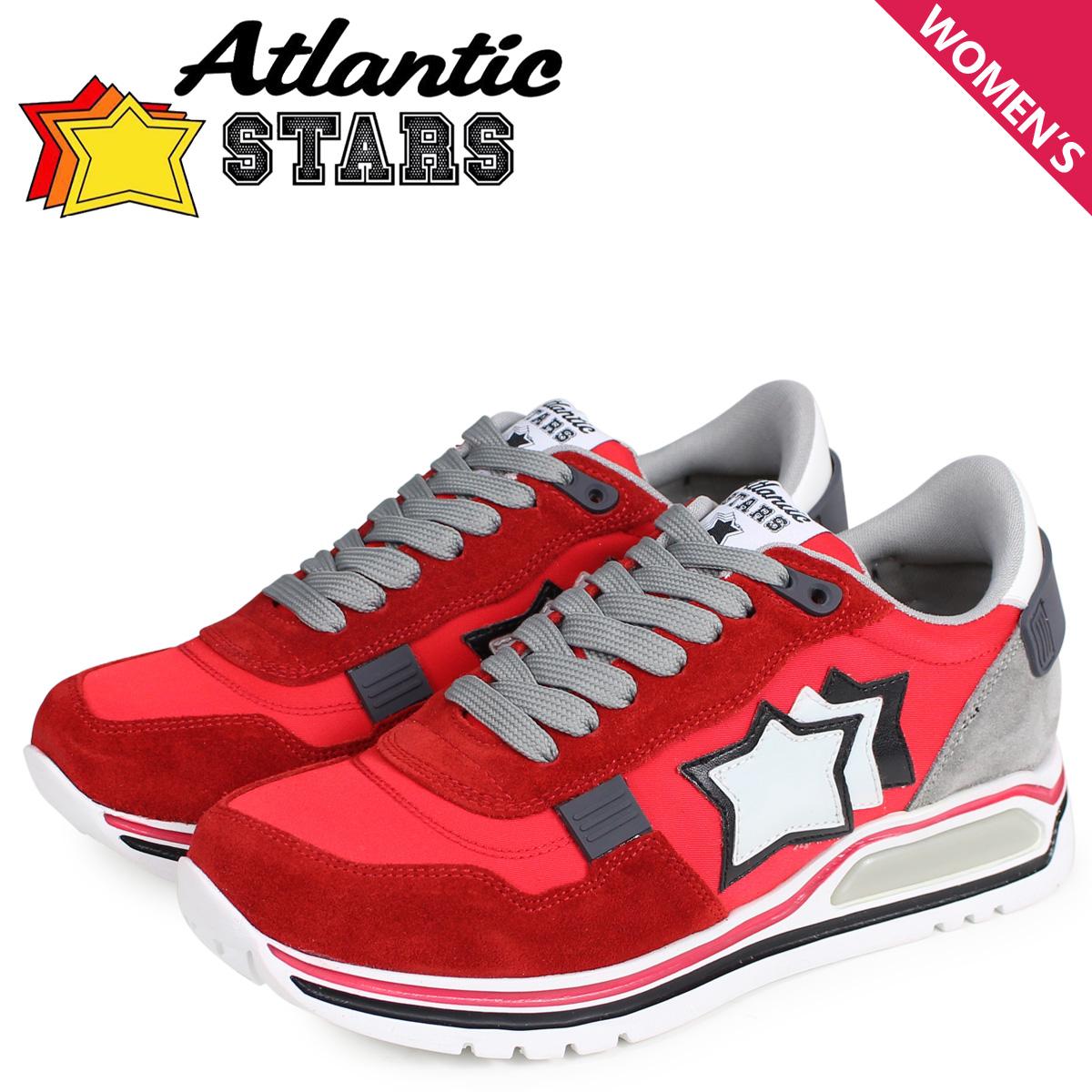 Atlantic STARS アトランティックスターズ スニーカー レディース シャカ SHAKA レッド CF-J04 [4/3 新入荷]