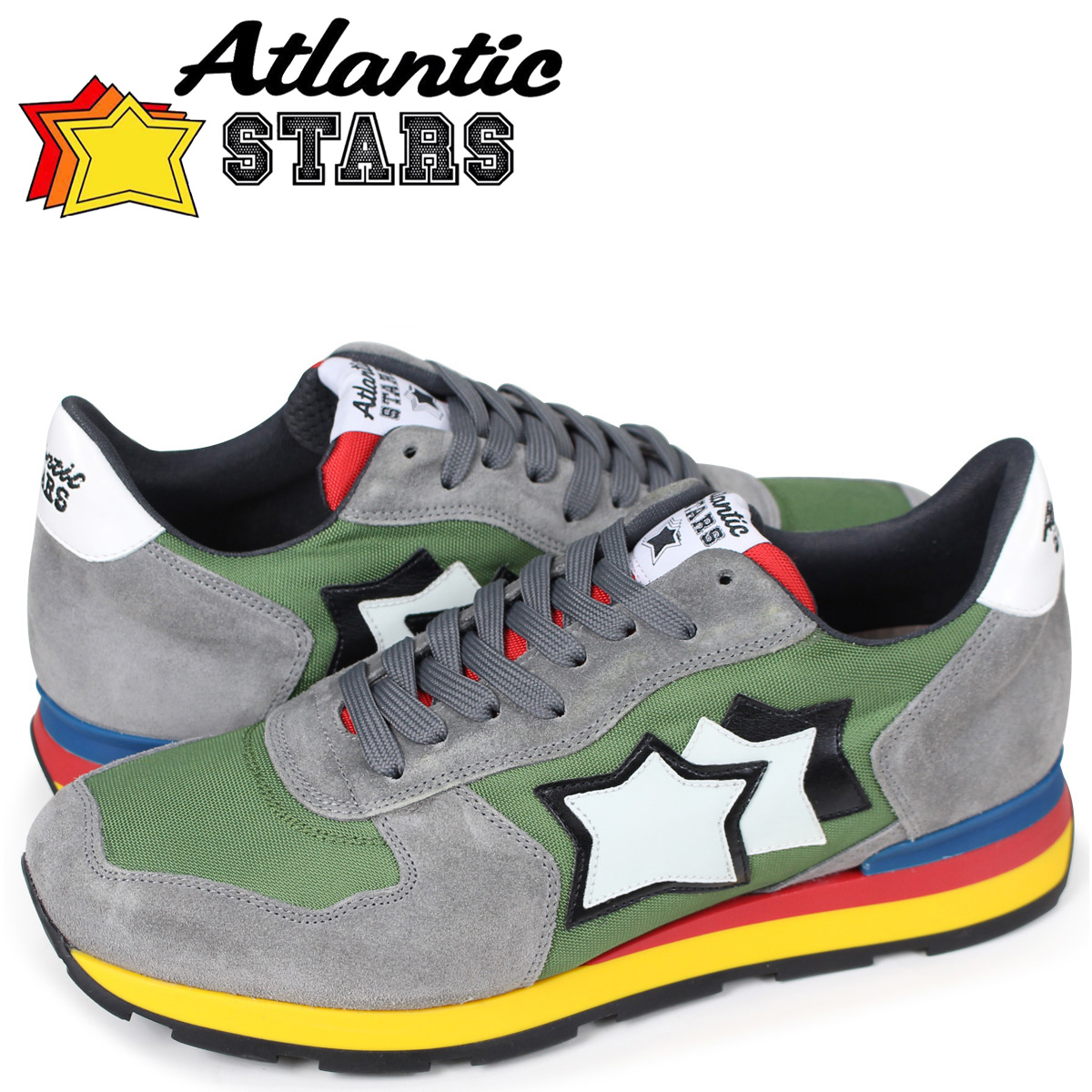 【最大2000円OFFクーポン配布】 Atlantic STARS メンズ スニーカー アトランティックスターズ アンタレス ANTARES CI-89A カーキ