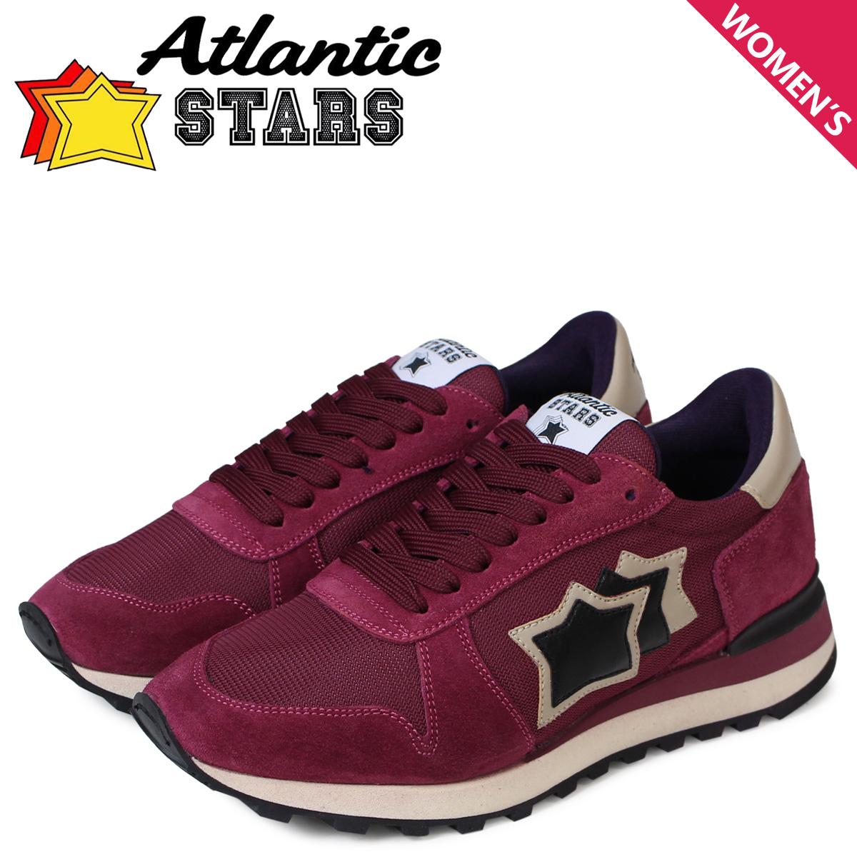 Atlantic STARS レディース スニーカー アトランティックスターズ アレナ ALHENA FLNYNPVN ワインレッド 赤