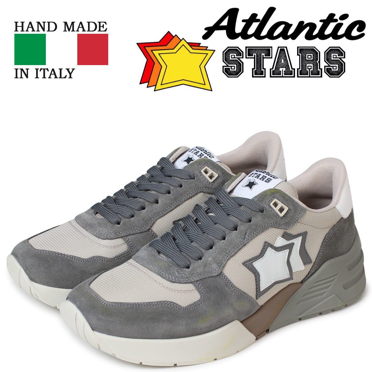 Atlantic STARS メンズ スニーカー アトランティックスターズ マーズ MARS GA-SN09 グレー