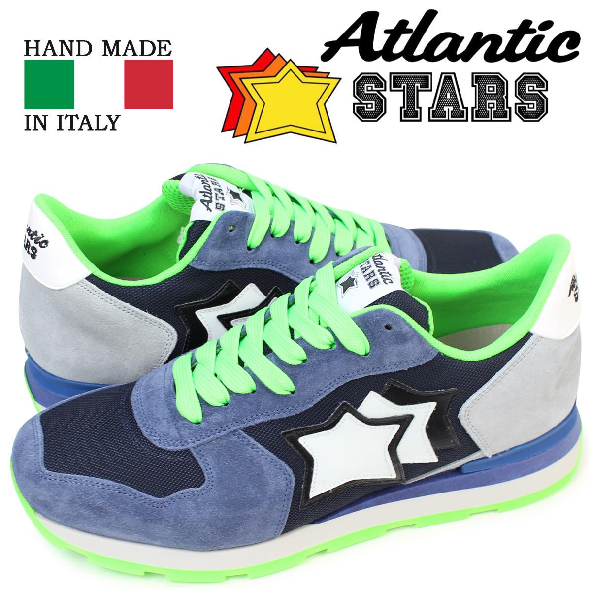 Atlantic STARS メンズ スニーカー アトランティックスターズ アンタレス ANTARES IAN-87A 靴 ネイビー グレー