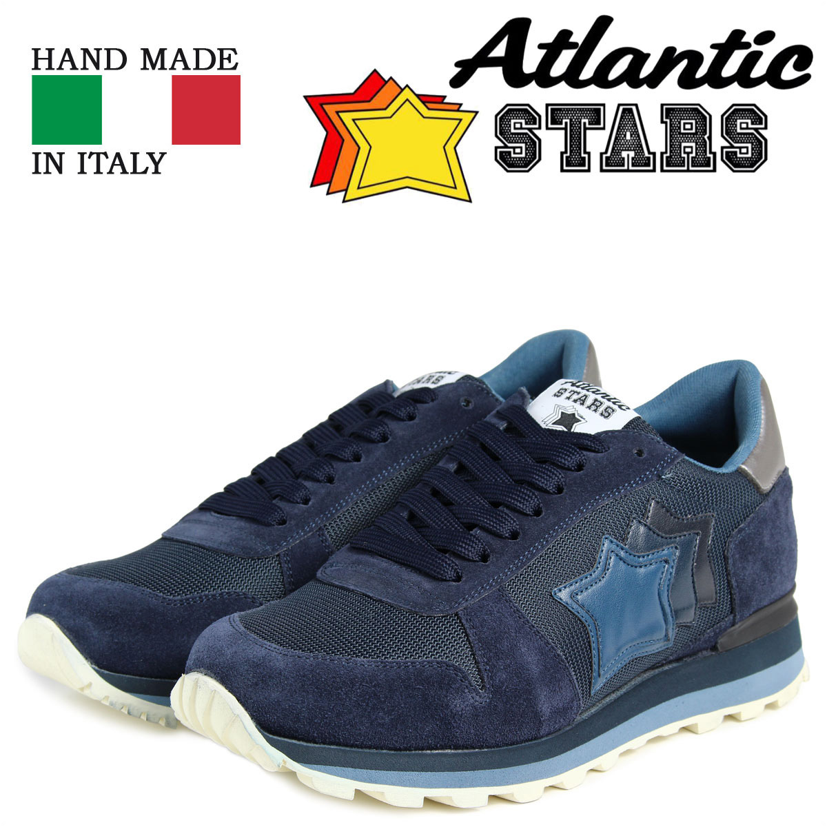 Atlantic STARS メンズ スニーカー アトランティックスターズ シリウス SIRIUS MAN-PR-LABN 靴 ネイビー 【決算セール 返品不可】