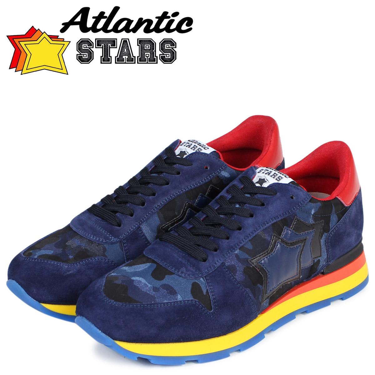 Atlantic STARS メンズ スニーカー アトランティックスターズ シリウス SIRIUS MB-49N 靴 ブルー カモ スエード