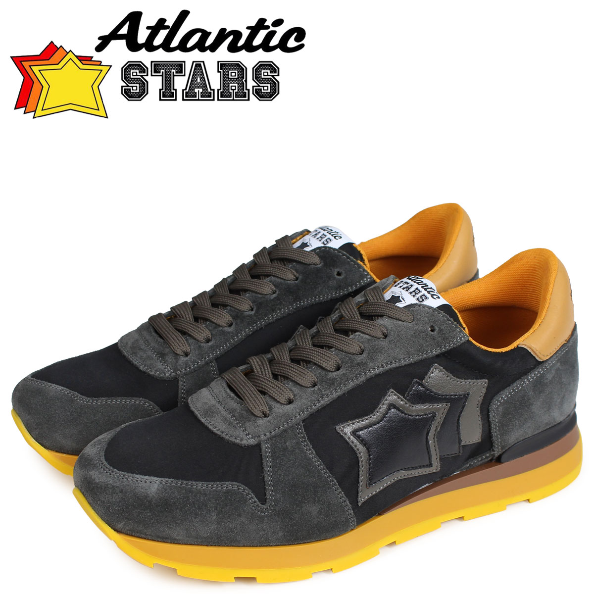 Atlantic STARS メンズ スニーカー アトランティックスターズ シリウス SIRIUS NAA-05N ブラウン