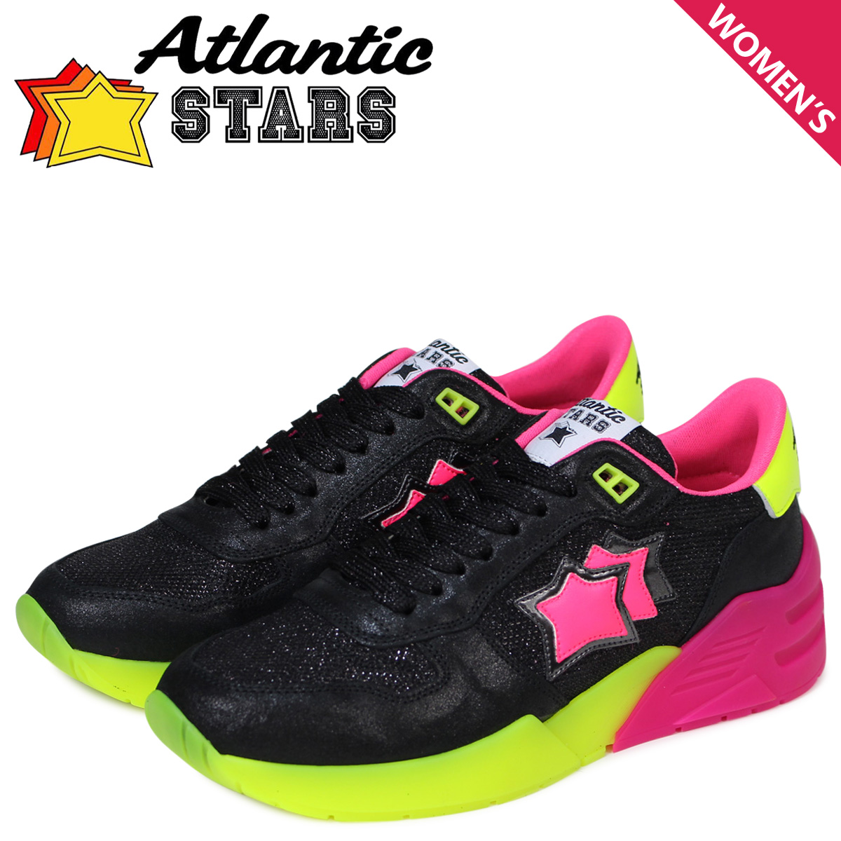 Atlantic STARS レディース スニーカー アトランティックスターズ ビーナス VENUS NB-SN05 ブラック 黒