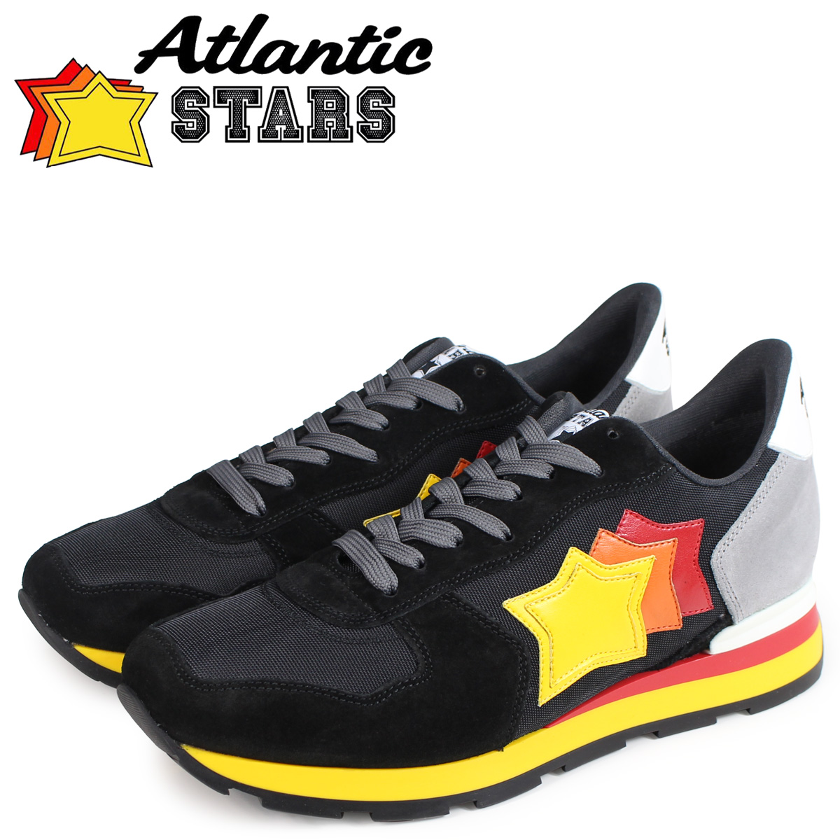 Atlantic STARS メンズ スニーカー アトランティックスターズ アンタレス ANTARES NCB-89B ブラック 黒