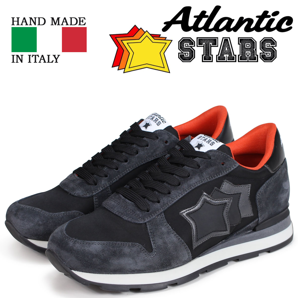 Atlantic STARS メンズ スニーカー アトランティックスターズ シリウス SIRIUS NGA-81N ブラック