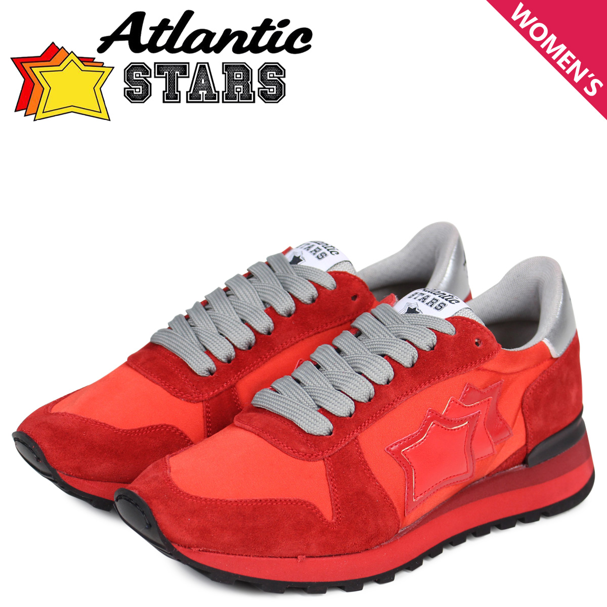 【最大2000円OFFクーポン配布】 Atlantic STARS レディース スニーカー アトランティックスターズ アレナ ALHENA RFNYNRRN レッド