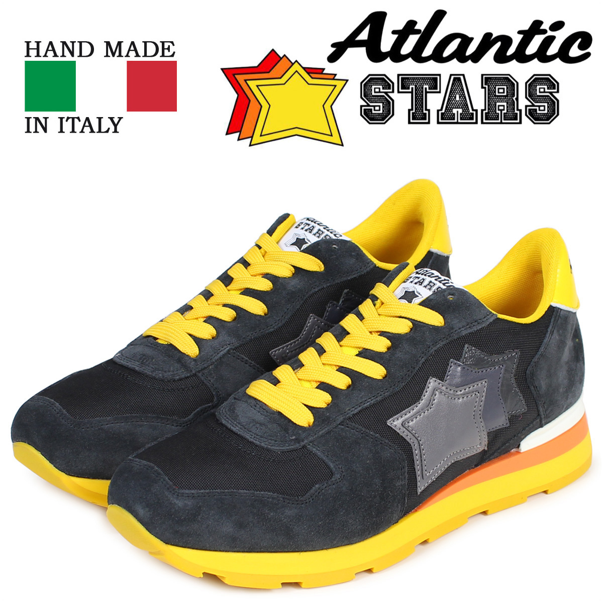 Atlantic STARS メンズ スニーカー アトランティックスターズ アンタレス ANTARES SB-46B 靴 ブラック 黒