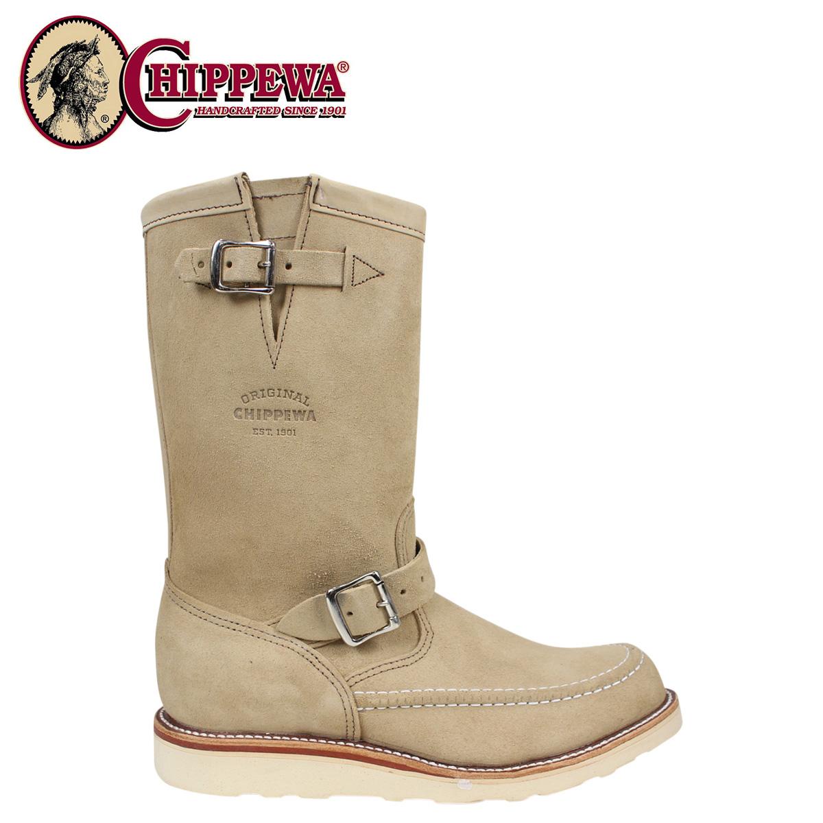 CHIPPEWA チペワ ブーツ 11インチ スエード ハイランダー サンド 1901M02 11INCH SUEDE HIGHLANDER Eワイズ スエード BOOT メンズ